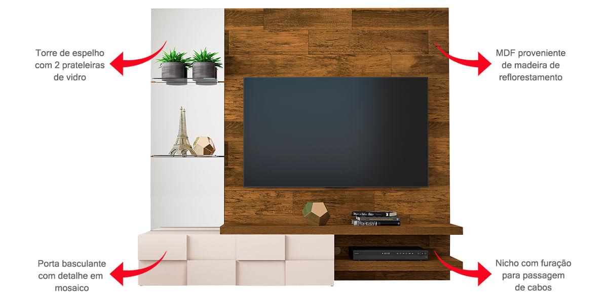 Painel para TV Turim Dj Móveis