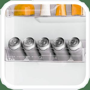 Porta latas - REFRIGERADOR ELECTROLUX DC35A