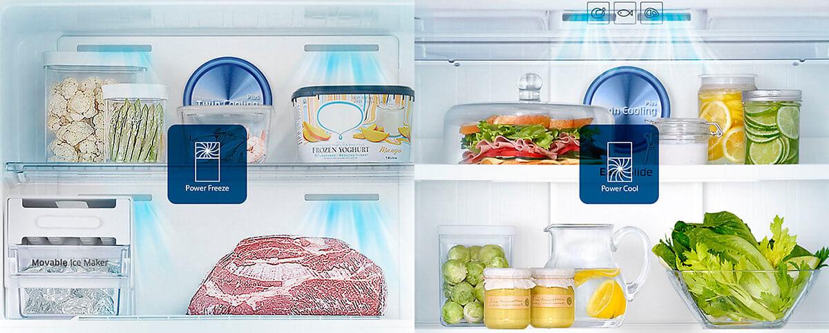 Resfria e congela rapidamente - Refrigerador RT6000K