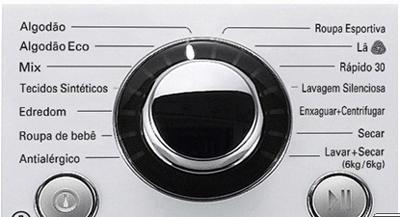 Programas de lavagem Lava e Seca WD1412RTB