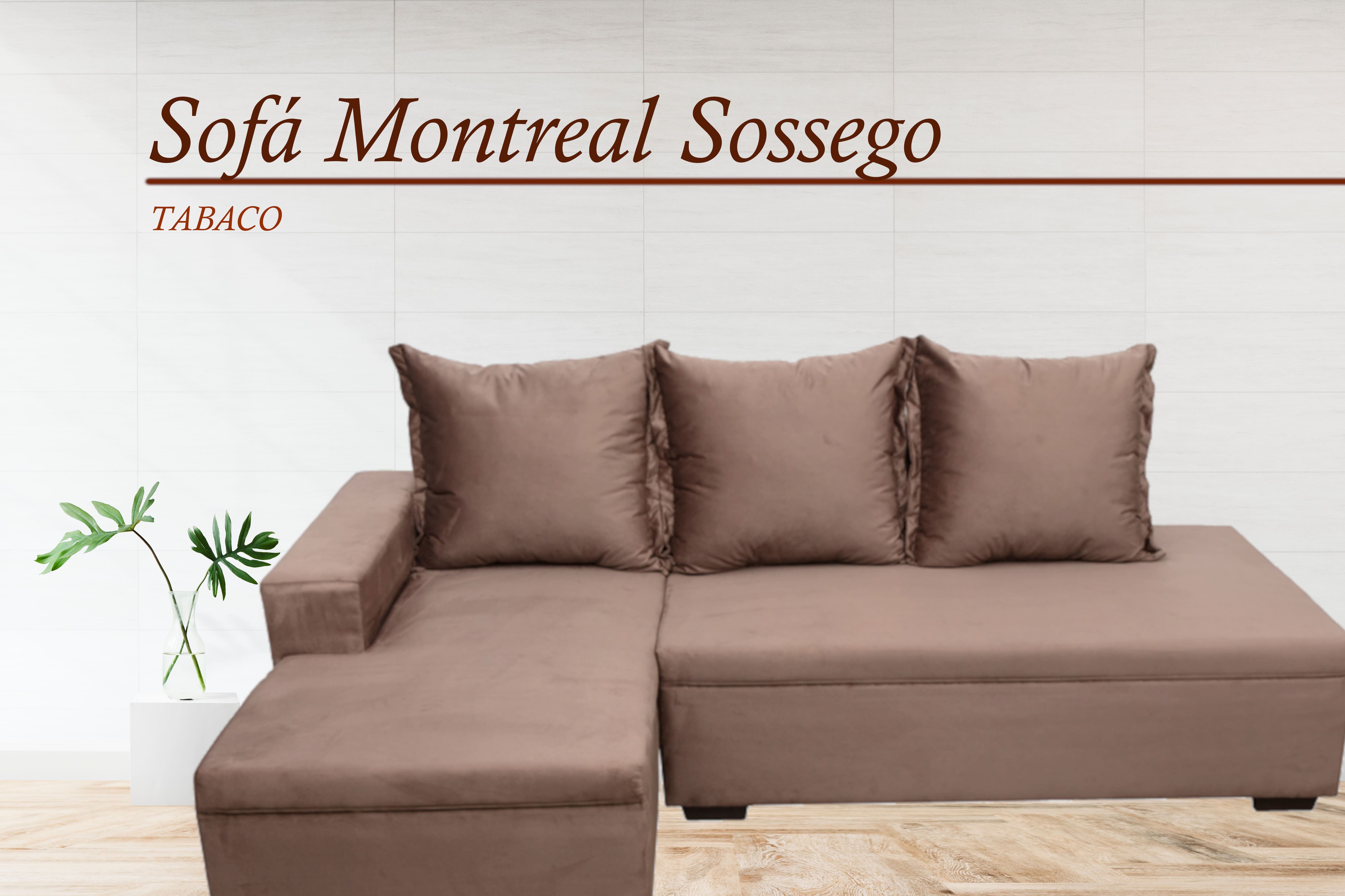 Sofá com Chaise Montreal Sossego