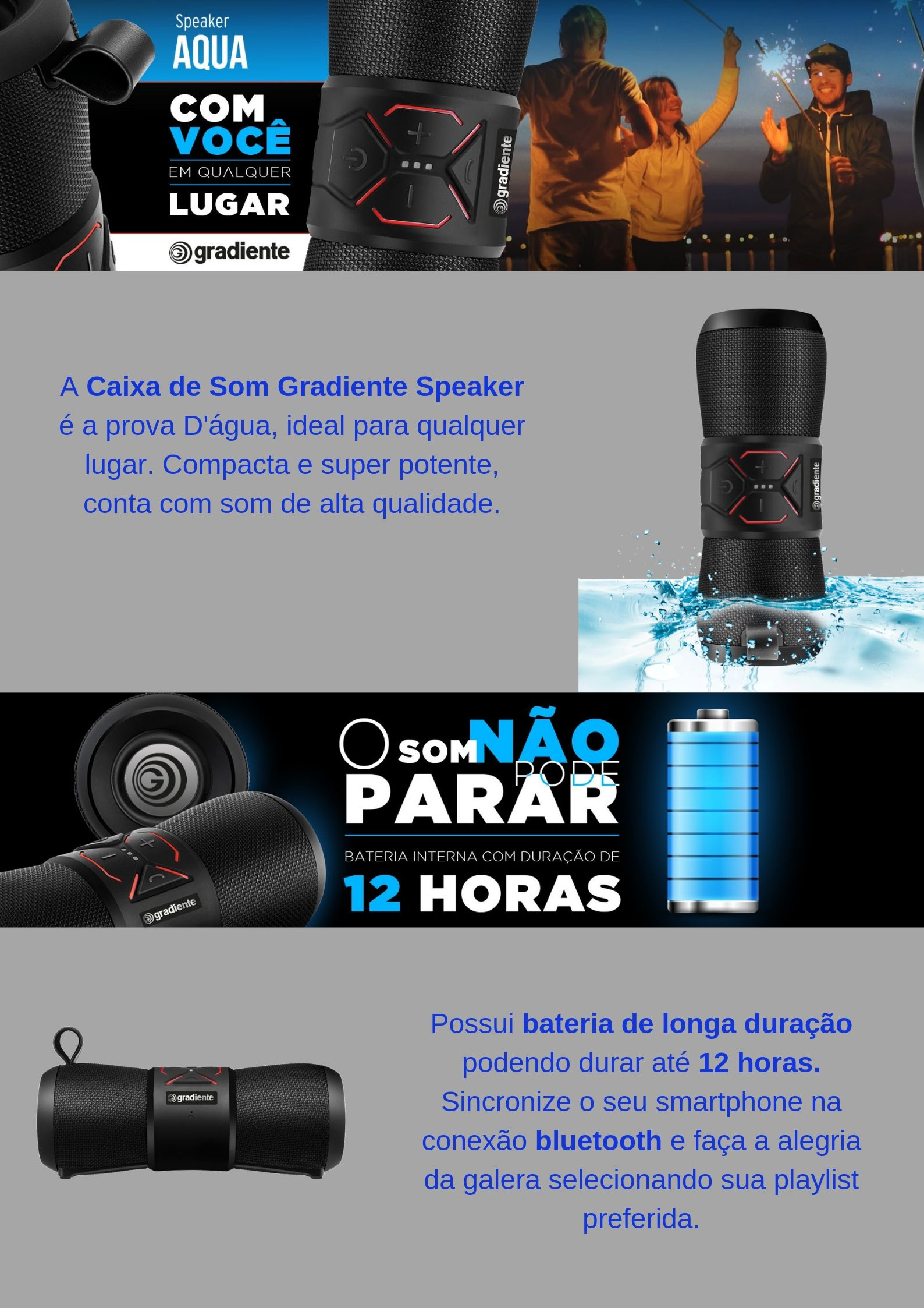 Speaker Água Gradiente