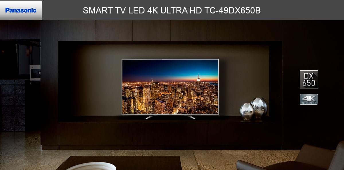 SMART TV LED 4K ULTRA HD TC-49DX650B