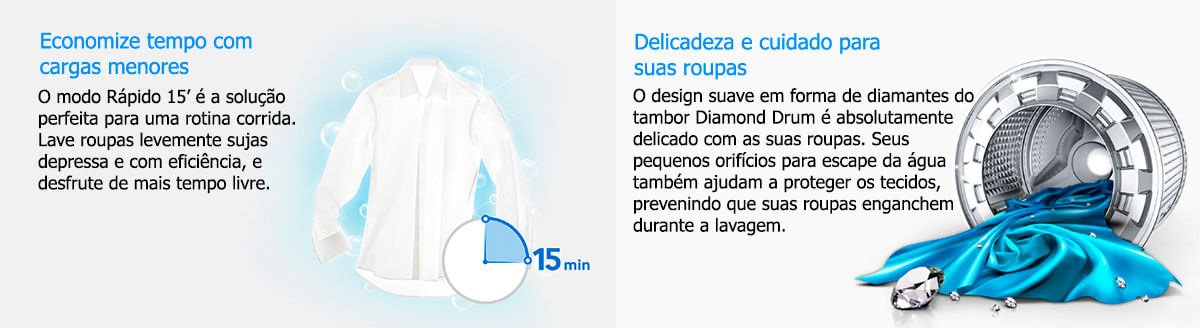 Mais informações - Lavadora Samsung WW10J6410EW